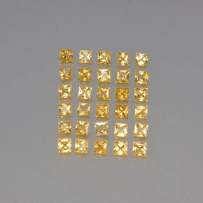 Yellow Golden Sapphire Gem - 0.1ct Princess-Cut (ID: 345554)
