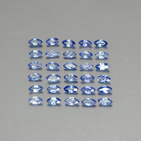 Blue Sapphire Gem - 0.1ct Marquise Facet (ID: 345573)