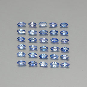 Blue Sapphire Gem - 0.1ct Marquise Facet (ID: 345577)