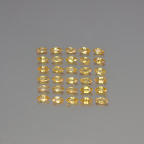 Golden Sapphire Gem - 0.1ct Marquise Facet (ID: 345607)