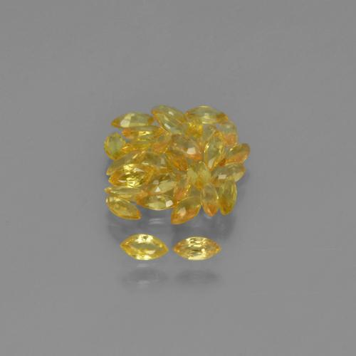 Yellow Golden Sapphire Gem - 0.1ct Marquise Facet (ID: 345614)