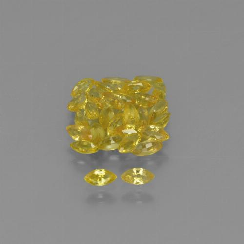 Yellow Golden Sapphire Gem - 0.1ct Marquise Facet (ID: 345616)