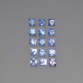 Light Violet Blue Sapphire Gem - 0.2ct Princess-Cut (ID: 345826)