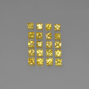Yellow Golden Sapphire Gem - 0.1ct Princess-Cut (ID: 345892)