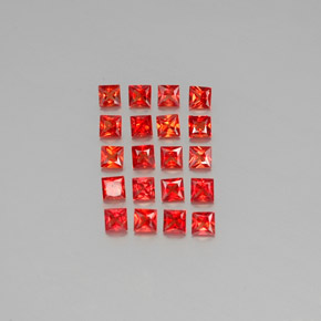 Medium Red Zafiro Gema - 0.1ct Corte Princesa (ID: 346428)