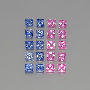 Multicolor Sapphire Gem - 0.2ct Princess-Cut (ID: 346688)