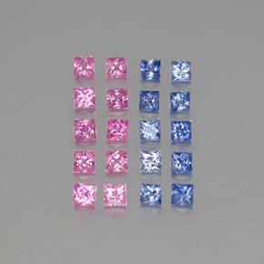 Multicolor Sapphire Gem - 0.1ct Princess-Cut (ID: 346691)