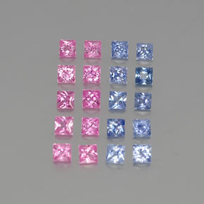 Multicolor Sapphire Gem - 0.2ct Princess-Cut (ID: 346696)
