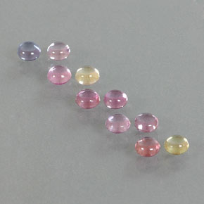 Multicolor Sapphire Gem - 0.3ct Round Cabochon (ID: 347079)