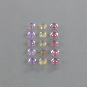 Multicolor Sapphire Gem - 0.2ct Round Cabochon (ID: 347092)