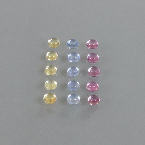 0.2ct Round Cabochon Multicolor Sapphire Gem (ID: 347097)