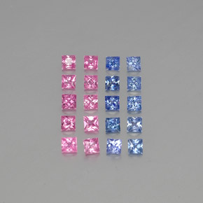 Multicolor Sapphire Gem - 0.1ct Princess-Cut (ID: 347128)