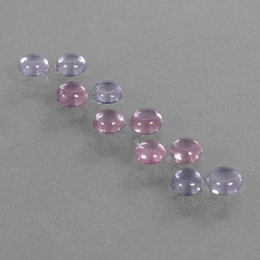 Multicolor Sapphire Gem - 0.3ct Round Cabochon (ID: 347175)