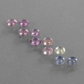 Multicolor Sapphire Gem - 0.3ct Round Cabochon (ID: 347177)