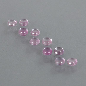 Very Light Pink Sapphire Gem - 0.2ct Round Cabochon (ID: 347262)