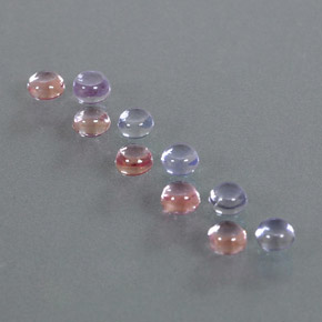 Multicolor Sapphire Gem - 0.3ct Round Cabochon (ID: 347265)