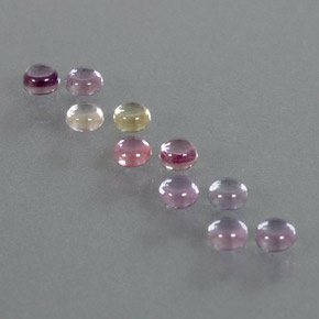 Multicolor Sapphire Gem - 0.2ct Round Cabochon (ID: 347266)