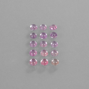 Multicolor Sapphire Gem - 0.2ct Round Cabochon (ID: 347389)