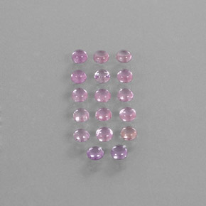 Very Light Pink Saphir Edelstein - 0.2ct Rund Cabochon (ID: 347392)