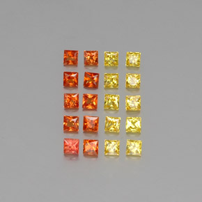 thumb image of 0.1ct Princess-Cut Multicolor Sapphire (ID: 347409)