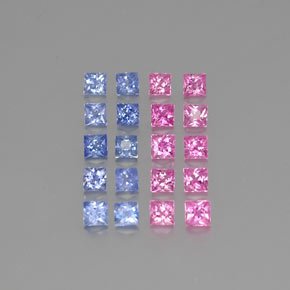 Multicolor Sapphire Gem - 0.1ct Princess-Cut (ID: 347410)