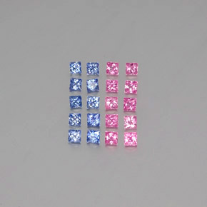 Multicolor Sapphire Gem - 0.1ct Princess-Cut (ID: 347430)