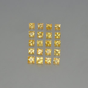 Yellow Sapphire Gem - 0.1ct Princess-Cut (ID: 347967)