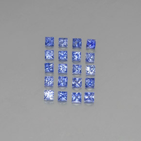 Deep Blue Sapphire Gem - 0.1ct Princess-Cut (ID: 347984)