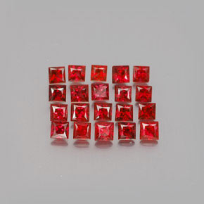 Red Orange Sapphire Gem - 0.1ct Princess-Cut (ID: 348014)