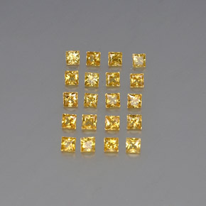 Medium Golden Sapphire Gem - 0.1ct Princess-Cut (ID: 348032)