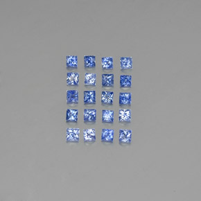 Medium Dark Blue Sapphire Gem - 0.1ct Princess-Cut (ID: 349096)