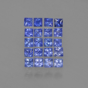 Cornflower Blue Sapphire Gem - 0.1ct Princess-Cut (ID: 349125)