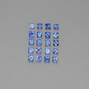 Medium Dark Blue Sapphire Gem - 0.1ct Princess-Cut (ID: 349132)