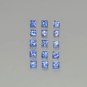 Medium Dark Blue Sapphire Gem - 0.1ct Princess-Cut (ID: 349418)