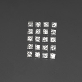 Clear White Sapphire Gem - 0.1ct Princess-Cut (ID: 349818)