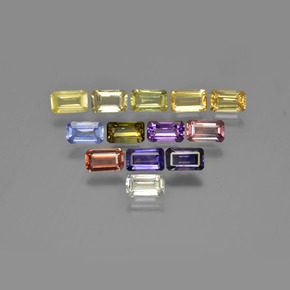 Multicolor Sapphire Gem - 0.3ct Octagon Step Cut (ID: 349973)