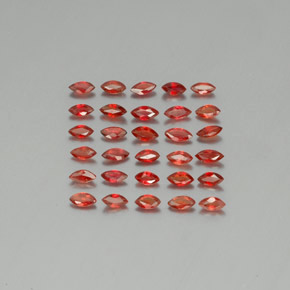 Bright Red Zafiro Gema - 0.1ct Forma marquesa (ID: 350131)