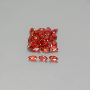 Fire Red Sapphire Gem - 0.1ct Marquise Facet (ID: 350151)
