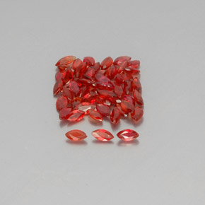 thumb image of 0.1ct Marquise Facet Red Orange Sapphire (ID: 350326)