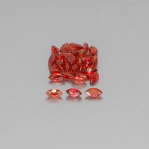 Red Orange Sapphire Gem - 0.1ct Marquise Facet (ID: 350328)