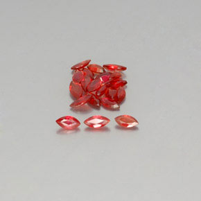 thumb image of 2.7ct Marquise Facet Red Orange Sapphire (ID: 350430)