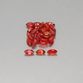 thumb image of 0.2ct Marquise Facet Red Orange Sapphire (ID: 350438)