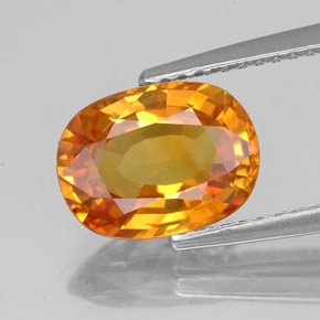 3.03 ct Oval Facet Yellow Golden Sapphire Gemstone 9.96 mm x 7.5 mm (Product ID: 353976)