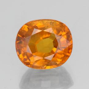 3.23 ct Oval Facet Orange Sapphire Gemstone 8.61 mm x 7.5 mm (Product ID: 353978)