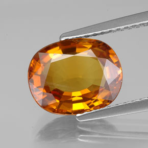 Yellow Golden Sapphire Gem - 3.3ct Oval Facet (ID: 353980)
