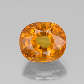 3.27 ct Oval Facet Yellow Golden Sapphire Gemstone 8.77 mm x 7.5 mm (Product ID: 353981)