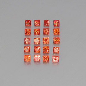 Orange Sapphire Gem - 0.1ct Princess-Cut (ID: 354001)