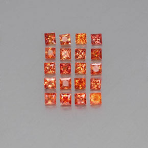 Orange Sapphire Gem - 0.1ct Princess-Cut (ID: 354004)