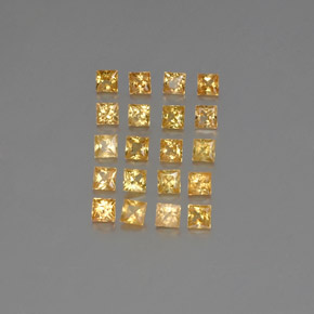 Medium Gold Zafiro Gema - 0.1ct Corte Princesa (ID: 354094)