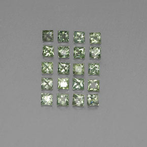 Green Sapphire Gem - 0.1ct Princess-Cut (ID: 354112)
